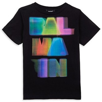 Balmain Little Kid's & Kid's Multicolor Logo T-Shirt