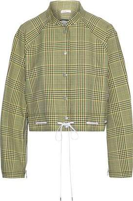 ADEAM Cropped Checked Twill Jacket