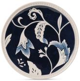 Fitz & Floyd Stoneware Bristol Indigo Floral Salad Plate