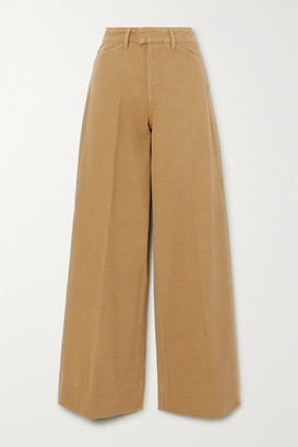 REMAIN Birger Christensen - Bernadette Cotton-twill Wide-leg Pants - Sage green