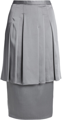 Chalayan Layered Pleated Satin-crepe Skirt
