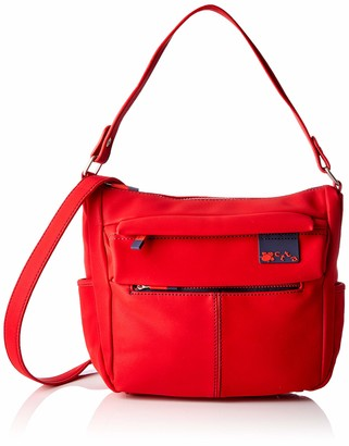 ctta caminatta Women's S4301 Shoulder Bag Red Red (Rojo 08)