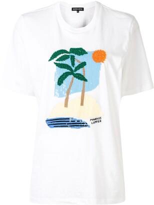 Markus Lupfer sequin-logo T-shirt