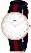Daniel Wellington Classic Oxford 0101DW Men's Rose Goldtone Stainless Steel and Nylon Watch