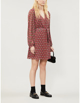 Claudie Pierlot Rocaille paisley-print woven mini dress