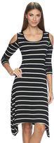 Apt. 9 Women's Striped Cold-Shoulder Shift Dress