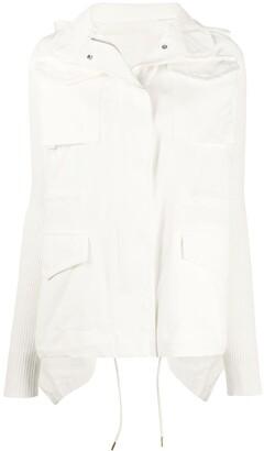 Sacai Combined Batwing Sleeve Jacket