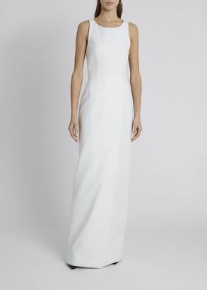 Givenchy Crepe Slit-Back Column Gown