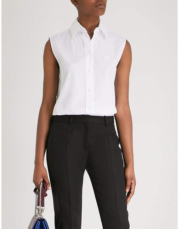 Givenchy Sleeveless cotton-poplin shirt