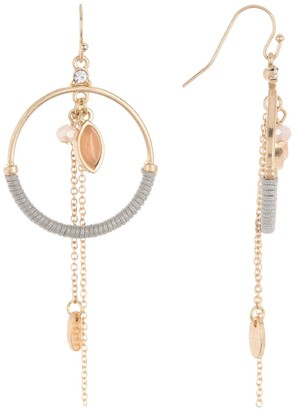 Melrose and Market Semi Wrapped Hoop Charm Drop Earrings