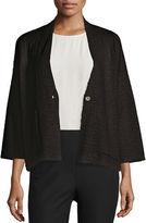Eileen Fisher 3/4-Sleeve Kimono Jacket, Black, Petite