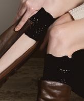 Black Bow Crochet Boot Cuffs