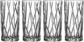 Orrefors City Set of 4 Crystal Highball Glasses