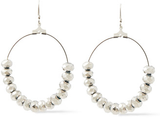 Kenneth Jay Lane Rhodium-plated Resin Earrings