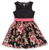 Us Angels Girl's Illusion Floral Dress