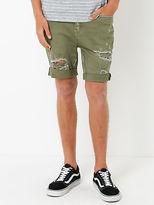 Lee New Mens Z Roadie Shorts In Olive Shorts Denim