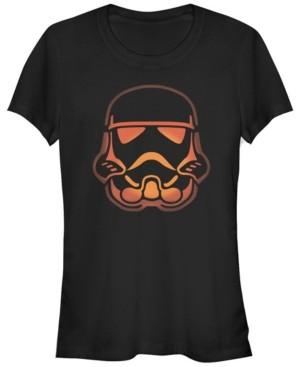 Fifth Sun Star Wars Women's Stormtrooper Pumpkin Carving Halloween Short Sleeve Tee Shirt