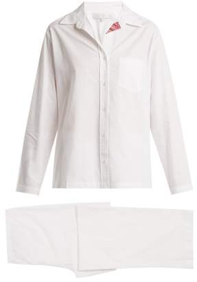 Pour Les Femmes - Congo Patch-pocket Cotton Pyjamas - Womens - White