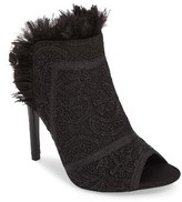 Topshop Women's Russia Feather Trim Sandal