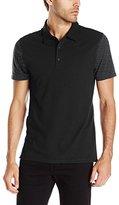 Vince Men's Mix Stich Colorblock Short Sleeve Polo Shirt