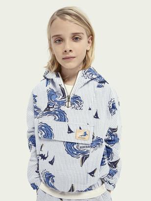 Scotch & Soda Printed half-zip hoodie | Boys