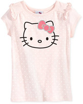 Hello Kitty Graphic Polka-Dot T-Shirt, Toddler & Little Girls (2T-6X)