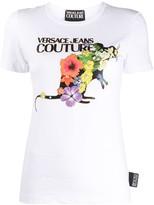 Versace logo floral print T-shirt