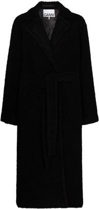Ganni Belted Boucle Coat