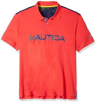 Nautica Men's Big and Tall Short Sleeve Cotton Logo Polo Shirt