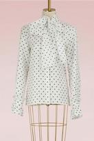 Loewe Tie collar dot blouse