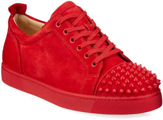 Christian Louboutin Men's Louis Junior Spikes Red Sole Sneakers