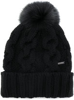 Woolrich bobble knitted beanie