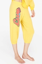 Wildfox Couture Luv Cropped Morning Sweats in Sunflower