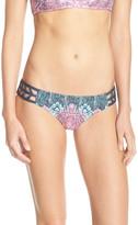 Lucky Brand Midnight Paisley Lattice Reversible Hipster Bikini Bottoms