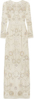 Needle & Thread Embellished Embroidered Tulle Gown - Ivory