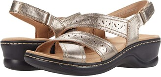 Clarks Lexi Pearl (Metallic Leather) Women's Shoes
