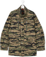 Diesel TEEN camouflage embroidered jacket