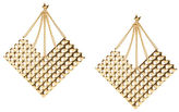 BCBGMAXAZRIA Studded Plate Earrings