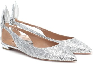 Aquazzura Bow Tie sequined ballet flats