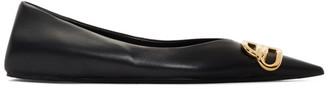 Balenciaga Black BB Lux Ballerina Flats