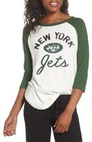 Junk Food Clothing Women's Nfl New York Jets Raglan Tee