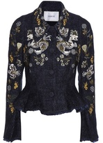 Erdem Esha Embroidered Wool-blend Jacket