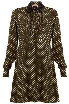No.21 No. 21 - Polka Dot Vinyl Collar Dress - Womens - Black Yellow