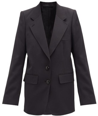 Lemaire Single-breasted Crepe Jacket - Navy