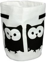 EIGHTMOOD Owl Textile Storage - White/Black