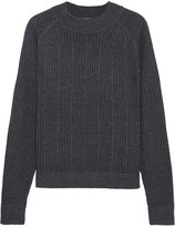 Frame Cable-knit Merino Wool-blend Sweater - Charcoal