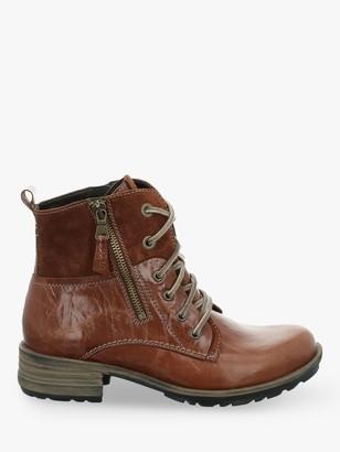 Josef Seibel Sandra 91 Leather Biker Boots, Brown