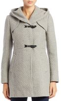 Jessica Simpson Wool-Blend Tweed Toggle Coat