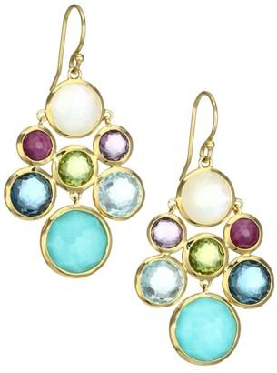 Ippolita Lollipop 18K Yellow Gold & Multi-Stone Cascade Drop Earrings