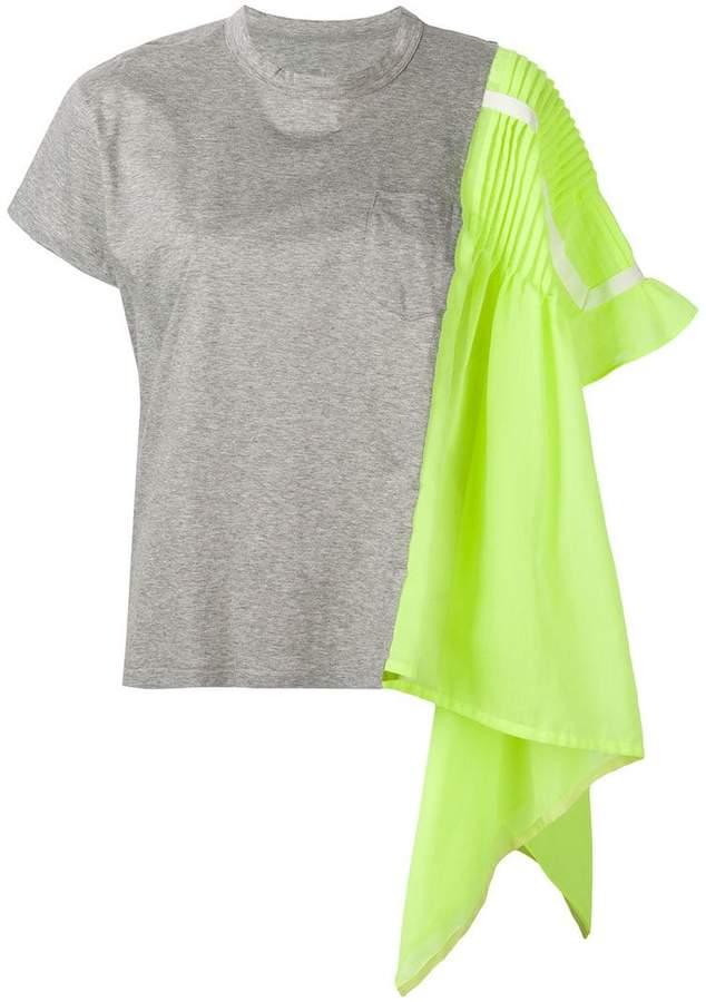 Sacai pleat shoulder T-shirt